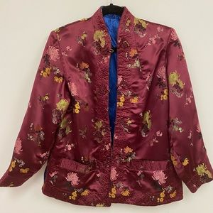 Floral Embroidery Asian Jacket
